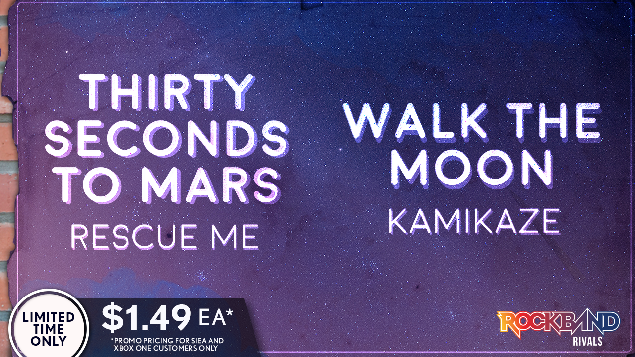 Harmonix Blog Dlc Week Of 726 Thirty Seconds To Mars And Walk The
