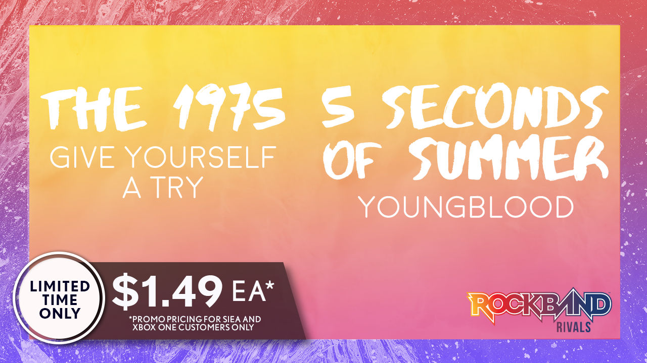 Harmonix Blog: DLC Week of 8/02: The 1975 and 5 Seconds of