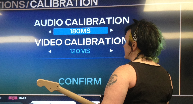 Harmonix Blog: Rock Band 4: Calibration How To