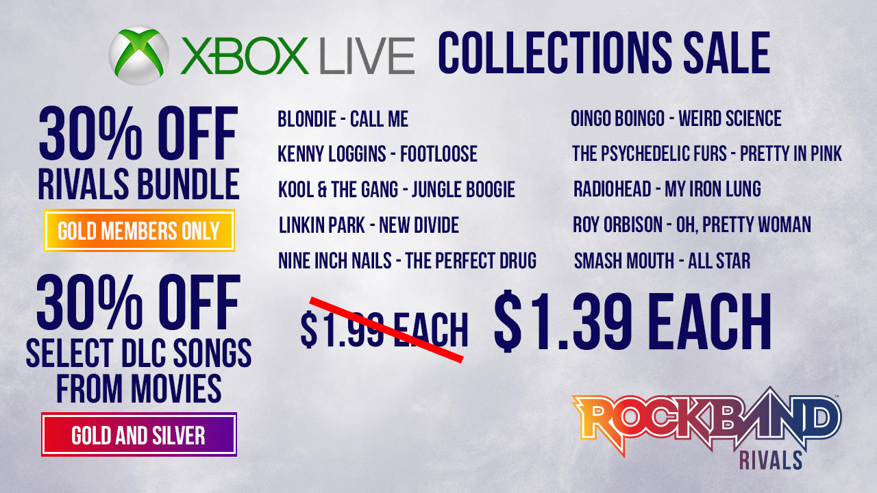 Harmonix Blog: Rock Band Rivals: Xbox Collections Sale, February 2017