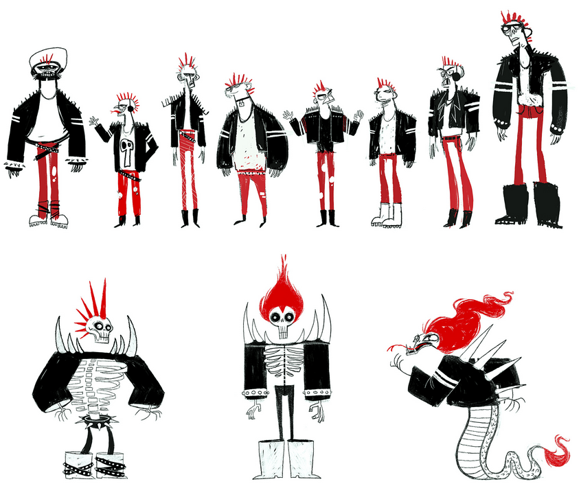 Punk concept sketches