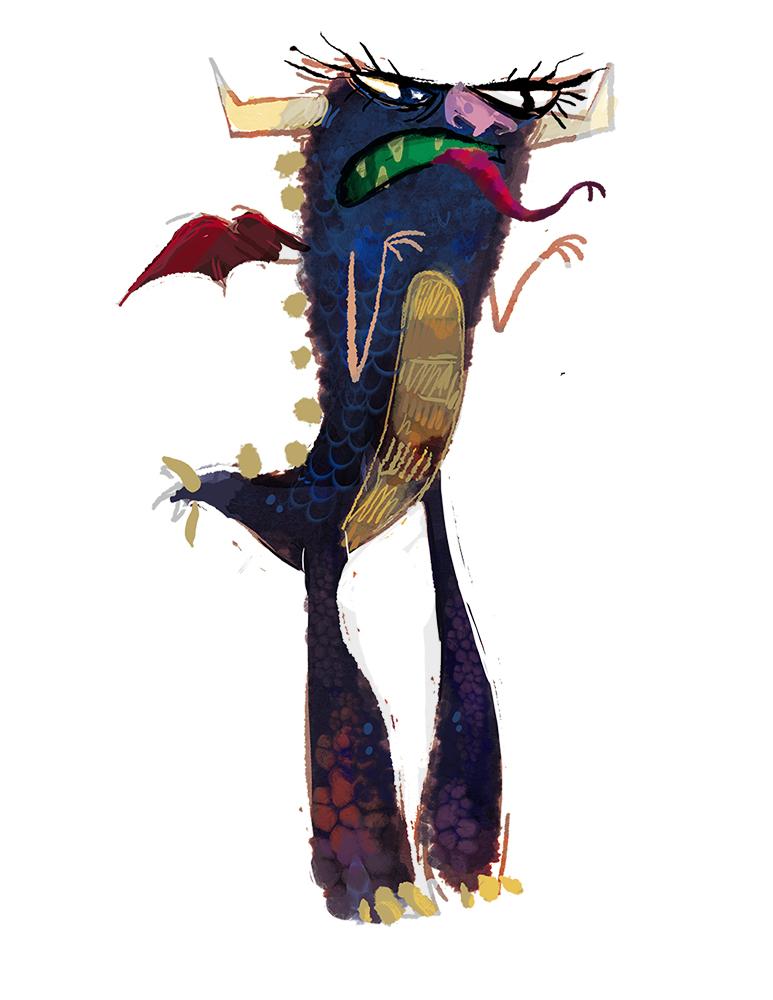 Gargoyle concept painting.