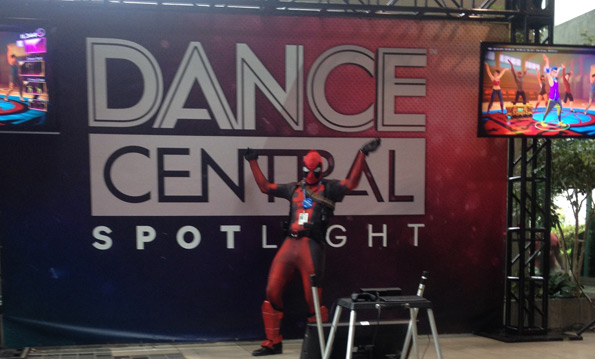 Deadpool playing Dance Central Spotlight